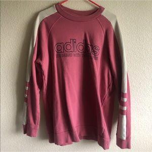🌸 adidas pink crew neck sweater!